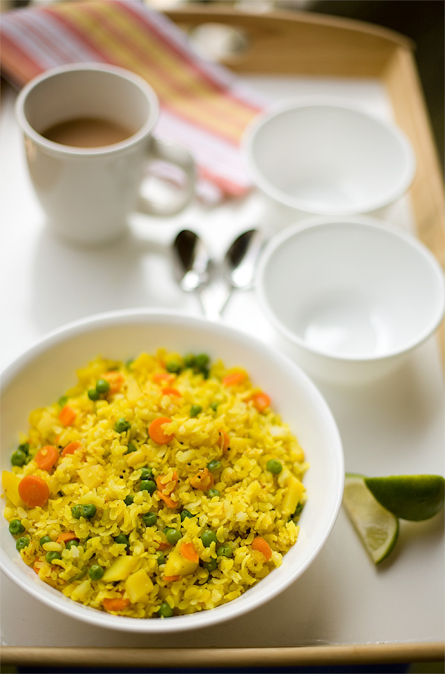 Vegetable Poha.. A simple yet tasteful way to start a beautiful day
